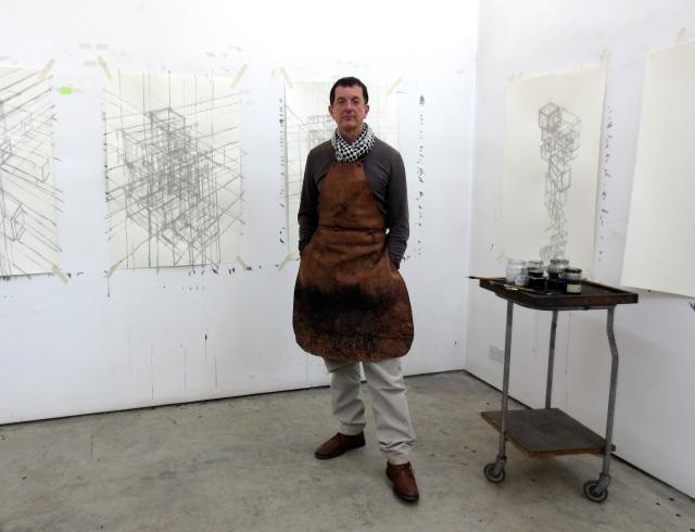 Antony Gormley in his studio
