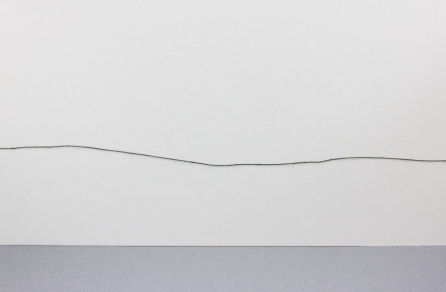 the beginning the end, 2010, installation - thread, dimensions variable (B)