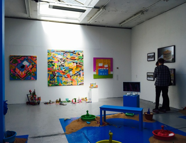 Installation view, BA Painting at Camberwell Undergraduate Summer show 2016