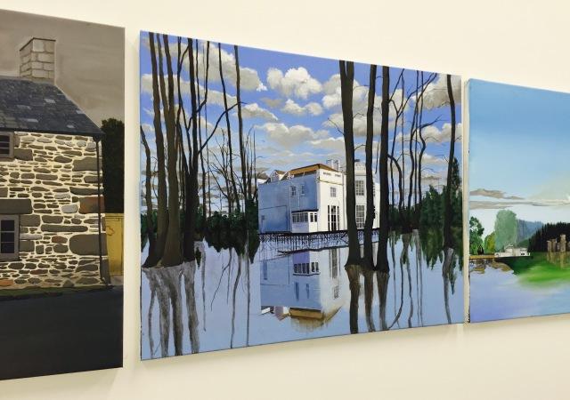 Amir Osman, BA (Hons) Painting, Death at my Doorstep, The Floating White House, Fantasy Landscape (2016) acrylic on canvas
