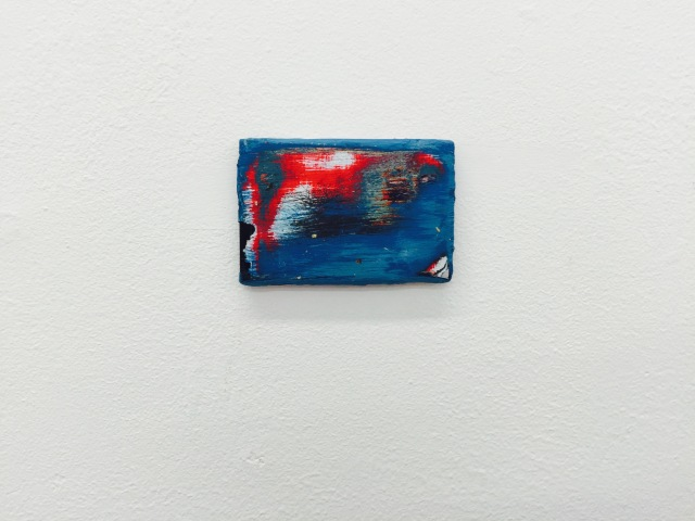 Thomas Greig, BA (Hons) Painting, Could be Better (2016) Phone Battery painting 1 of 3